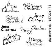 merry christmas. hand written... | Shutterstock .eps vector #157336475