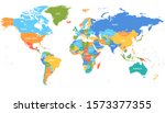 world map countries vector... | Shutterstock .eps vector #1573377355