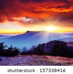 majestic morning mountain... | Shutterstock . vector #157338416