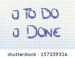 page with writing to do or done ... | Shutterstock . vector #157339316