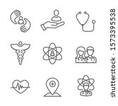 physician care icon set with...   Shutterstock .eps vector #1573395538