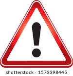 attention sign. warning caution ... | Shutterstock .eps vector #1573398445