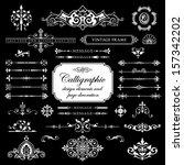 calligraphic design elements... | Shutterstock .eps vector #157342202
