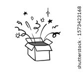 gift box illustration with hand ...   Shutterstock .eps vector #1573423168