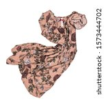 Coffee Dress In Floral Print O...