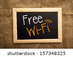free wifi message board. | Shutterstock . vector #157348325