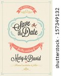 Save The Date, Wedding Invitation Card | Shutterstock vector #157349132
