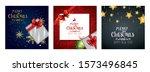 set poster of merry christmas... | Shutterstock .eps vector #1573496845