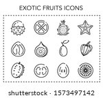 tropical fruit icons. linear...   Shutterstock .eps vector #1573497142