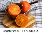 Persimmon. It Is An Edible...