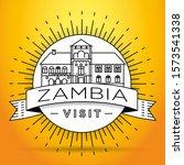 minimal zambia linear skyline...   Shutterstock .eps vector #1573541338