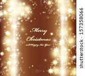golden festive christmas... | Shutterstock .eps vector #157358066