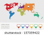 world map with geo position... | Shutterstock .eps vector #157359422