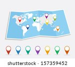 world map with geo location... | Shutterstock .eps vector #157359452