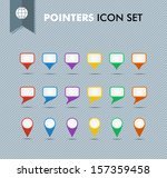 colorful travel pointer and...   Shutterstock .eps vector #157359458