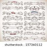 scrolls set | Shutterstock .eps vector #157360112