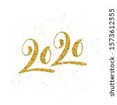 happy new 2020 year poster with ... | Shutterstock . vector #1573612555