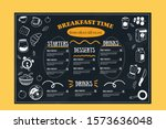 breakfast menu  restaurant... | Shutterstock .eps vector #1573636048