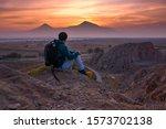 Man With Ararat At The Sunset