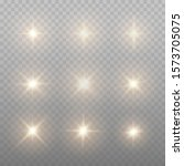 set of gold sparks isolated.... | Shutterstock .eps vector #1573705075