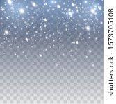 falling snow vector background. ... | Shutterstock .eps vector #1573705108