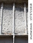 Old White Metal Grate Rust At...