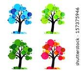Four Seasons   Vector Trees