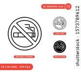 no smoking icons set vector...