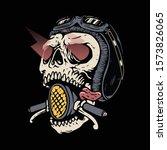 skull biker rider horror...