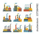industrial factory buildings... | Shutterstock .eps vector #157384982