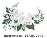 jasmine and white flower... | Shutterstock .eps vector #1573871992