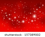 shiny starry lights on red... | Shutterstock .eps vector #157389002