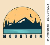 simple design mountain brand... | Shutterstock .eps vector #1573894225