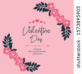 place for text  valentine day ... | Shutterstock .eps vector #1573895905