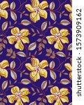 abstract flower pattern art... | Shutterstock . vector #1573909162