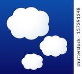 vector cloud shape stickers   Shutterstock .eps vector #157391348