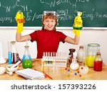 child holding flask in... | Shutterstock . vector #157393226