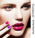 close up beauty portrait of... | Shutterstock . vector #157393712