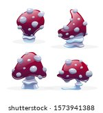 set of different fly agaric ...