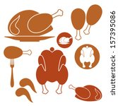 chicken. barbecue grill | Shutterstock .eps vector #157395086