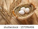 White Chicken Eggs   Hq Photo...