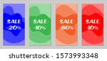 sale flyers. set of vintage...   Shutterstock .eps vector #1573993348