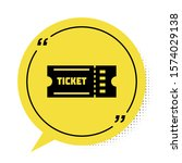 black ticket icon isolated on... | Shutterstock .eps vector #1574029138