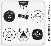 hipster style  | Shutterstock .eps vector #157404782