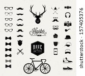 Hipster style icon set | Shutterstock vector #157405376