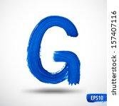 alphabet letter g. watercolor...   Shutterstock .eps vector #157407116