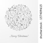christmas card with christmas... | Shutterstock .eps vector #157409615