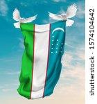 Uzbekistan Flag Carried By...