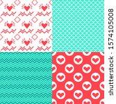 valentine's day patterns. set... | Shutterstock .eps vector #1574105008