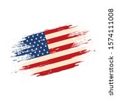 united states flag isolated... | Shutterstock .eps vector #1574111008